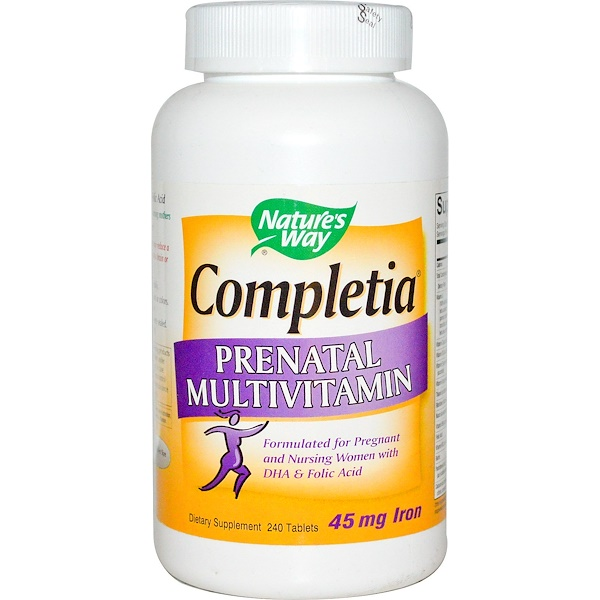 Nature's Way, Completia产前多种维生素,240片