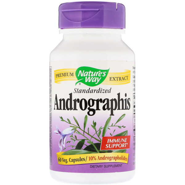 Nature's Way, Andrographis, Standardized, 60 Veg. Capsules