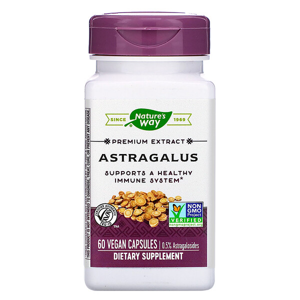 Nature's Way, Astragalus, 60 Vegan Capsules