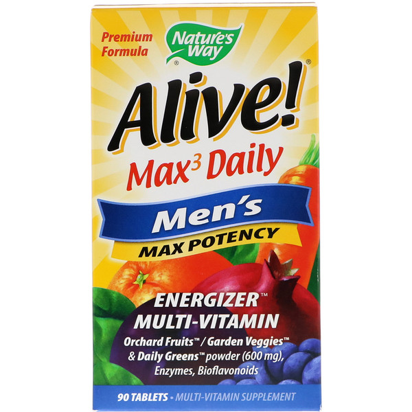 Alive! Max3 Daily, Men's Multivitamin, 90 Tablets
