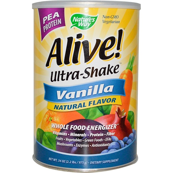 Nature's Way, Alive! Ultra-Shake,香草味,34盎司 (975克) (Discontinued Item)