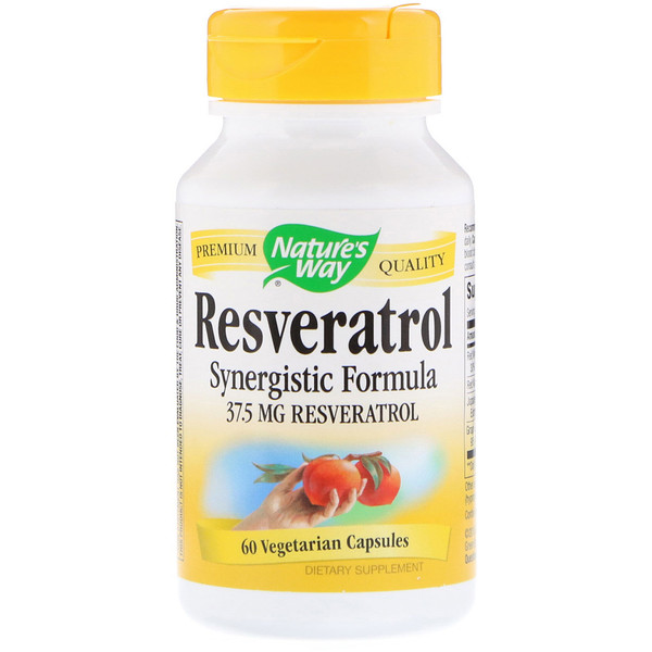 Nature's Way, Resveratrol, 37.5 mg, 60 Vegetarian Capsules