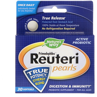 Nature's Way, Primadophilus Reuteri Pearls, 30 Softgels