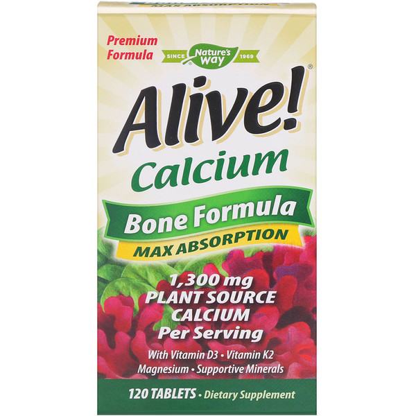 Alive! Calcium, Bone Formula, 120 Tablets