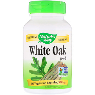 Nature's Way, White Oak Bark, 480 mg, 100 Vegetarian Capsules
