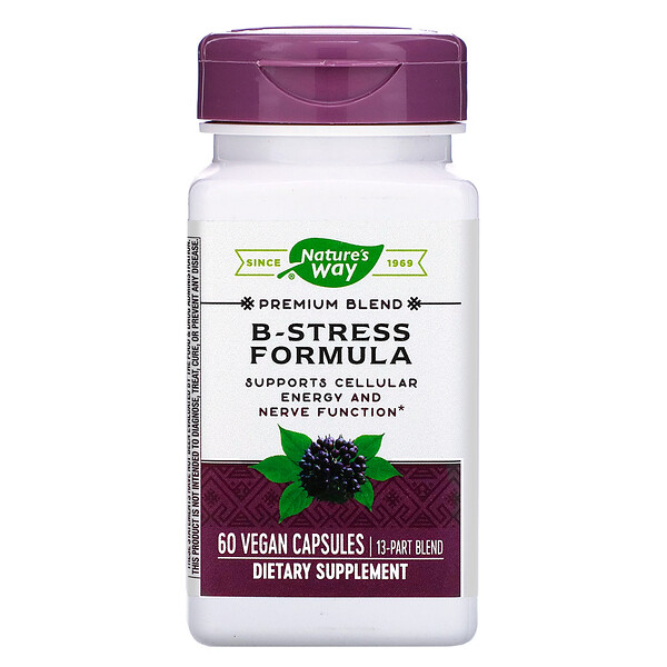 Nature's Way, B-Stress Formula, 60 Vegan Capsules (Discontinued Item)