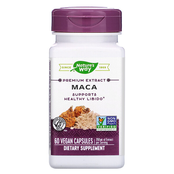Nature's Way, Premium Extract, Maca, 350 mg, 60 Vegan Capsules