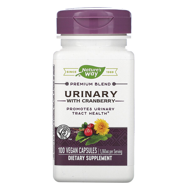 Urinary with Cranberry, 1,260 mg, 100 Vegan Capsules