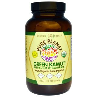 Pure Planet, Green Kamut Heirloom 小麦草,90 克