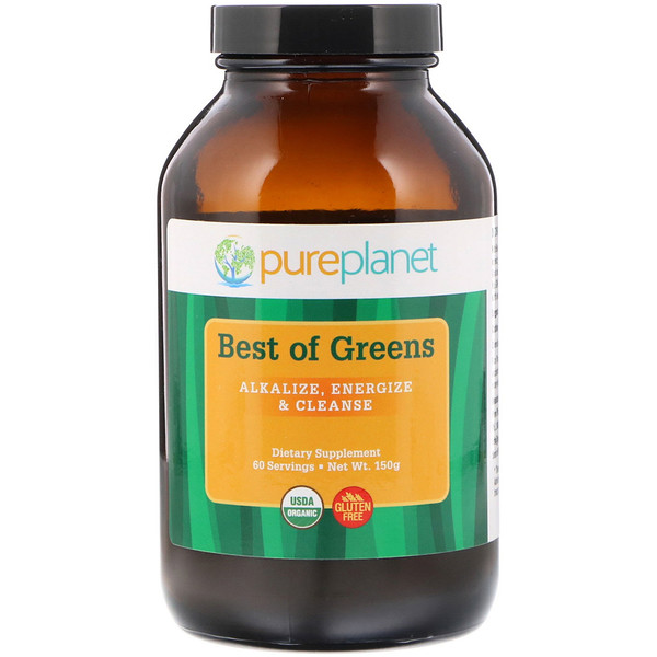Pure Planet, 有机 Best of Greens,150 克