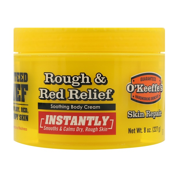 O'Keeffe's, Rough & Red Relief Soothing Body Cream, 8 oz. (227 g)