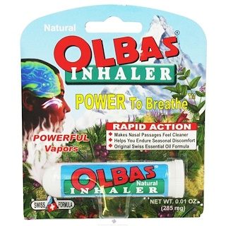 Olbas Therapeutic, 吸入器,0.01盎司(285mg)