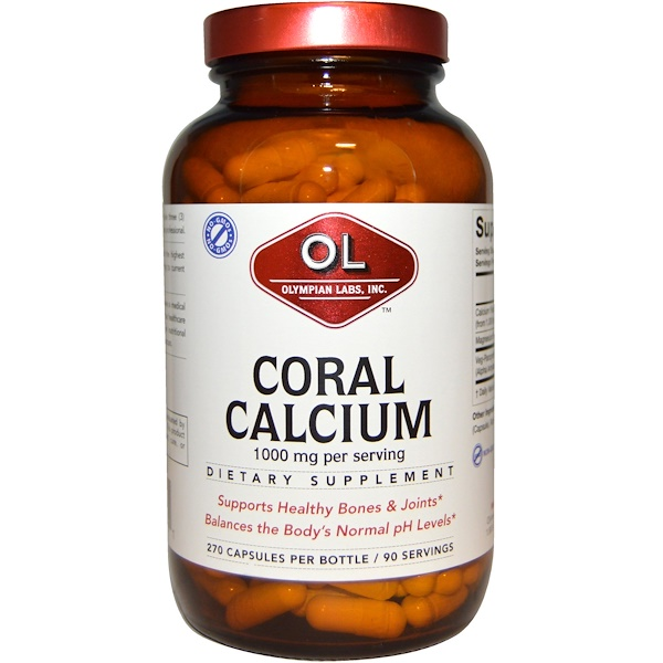 Olympian Labs Inc., Coral Calcium, 1000 mg, 270 Capsules (Discontinued Item)