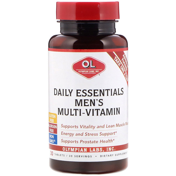 Olympian Labs, Daily Essentials Men's Multi-Vitamin, 30 Tablets