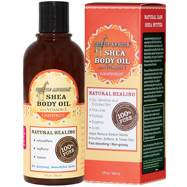 Out of Africa, Grapefruit Shea Butter Body Oil, 9 fl oz (266 ml) (Discontinued Item)