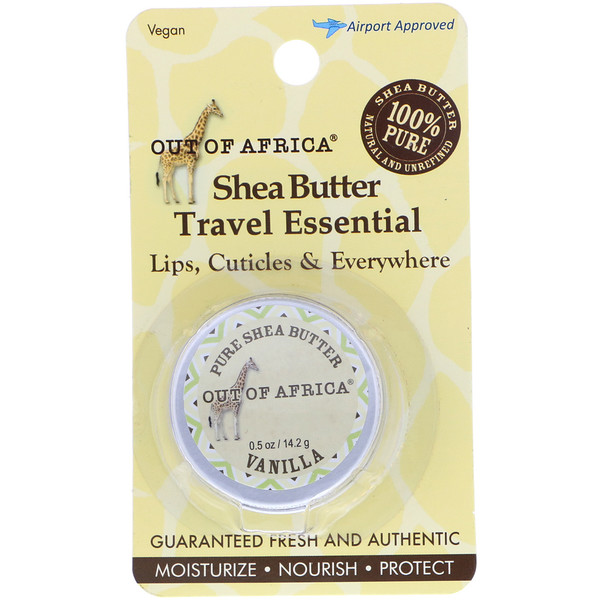 Out of Africa, Shea Butter Travel Essential, Vanilla , 0.5 oz (14.2 g)