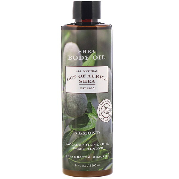 Shea Body Oil, Almond, 9 fl oz (266 ml)