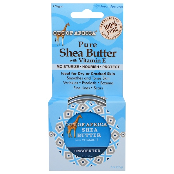 Out of Africa, Pure Shea Butter with Vitamin E, For Extreme Hydration, Unscented, 2 oz (56 g)