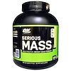 Optimum Nutrition, Serious Mass,高蛋白增重粉,香草味,6磅 (2.72千克)