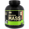 Optimum Nutrition, Serious Mass,高蛋白增重粉,草莓味,6磅(2.72千克)