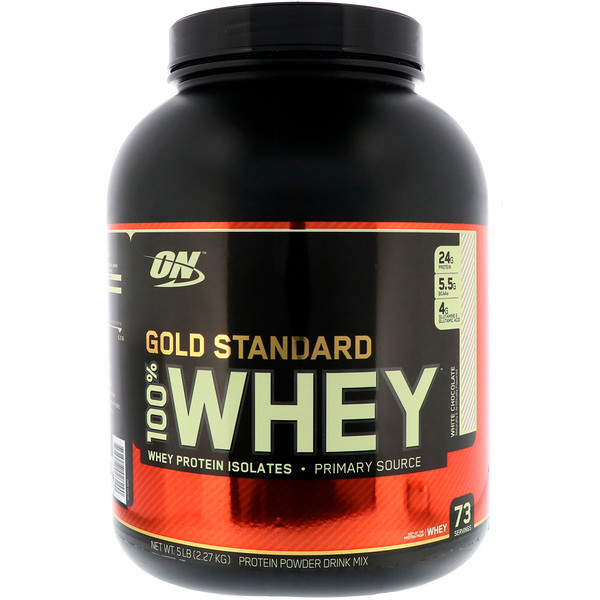 Optimum Nutrition, Gold Standard, 全 Whey, White Chocolate, 5 lb (2.27 kg)