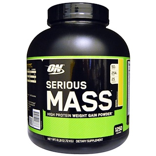 Optimum Nutrition, Serious Mass,高蛋白增重粉,香蕉味, 6 lbs (2.72 kg)