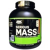Optimum Nutrition, Serious Mass,高蛋白增重粉,巧克力花生酱,6磅 (2.72千克)