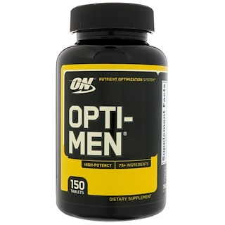 Optimum Nutrition, Opti-Men, 150 片
