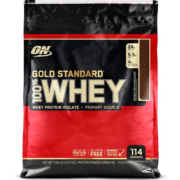 Optimum Nutrition, Gold Standard 100% Whey, Double Rich Chocolate, 7.64 lb (3.47 kg) (Discontinued Item)