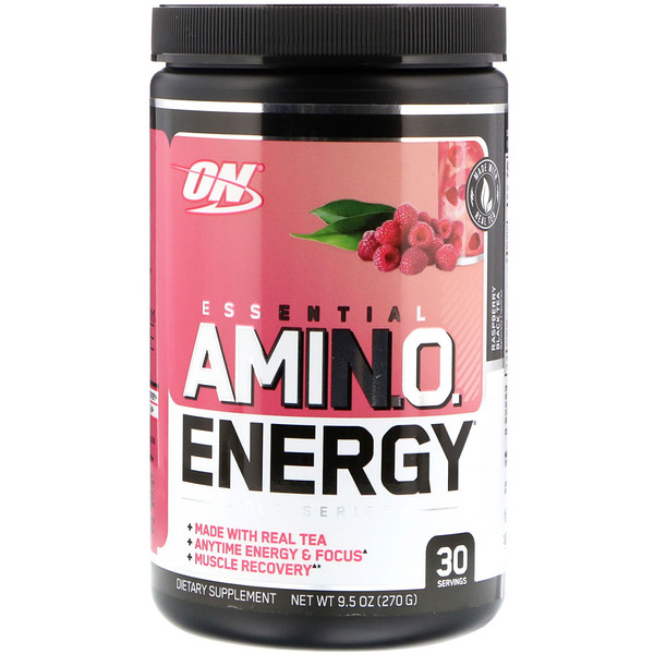 Optimum Nutrition, Amino Energy, Rasberry Black Tea, 9.5 oz (270 g) (Discontinued Item)