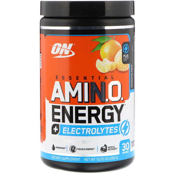 Optimum Nutrition, Essential Amino Energy + Electrolytes,  Tangerine Wave, 10.05 oz (285 g)