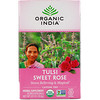 Organic India, Tulsi Tea, Sweet Rose, Caffeine Free, 18 Infusion Bags, 1.01 oz (28.8 g)
