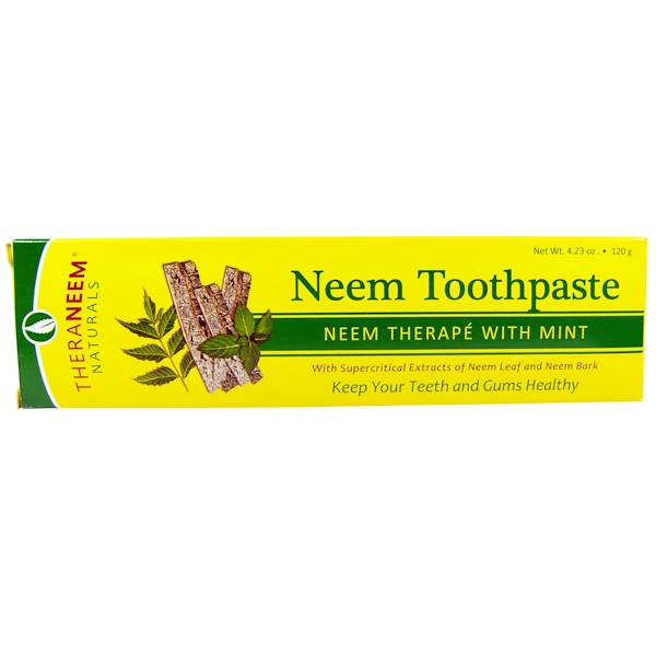 Organix South, TheraNeem Naturals, Neem Therapé with Mint, Neem Toothpaste, 4.23 oz (120 g)