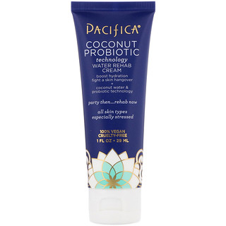 Pacifica, Coconut Probiotic, Technology Water Rehab Cream 1 fl oz (29 ml)