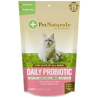Pet Naturals of Vermont, Daily Probiotics, For Cats, 30 Chews, 1.27 oz (36 g)