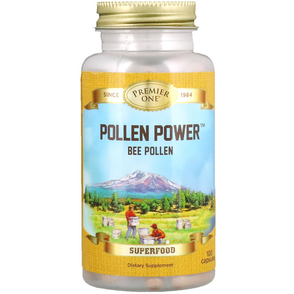 Pollen Power, Bee Pollen, 100 Capsules