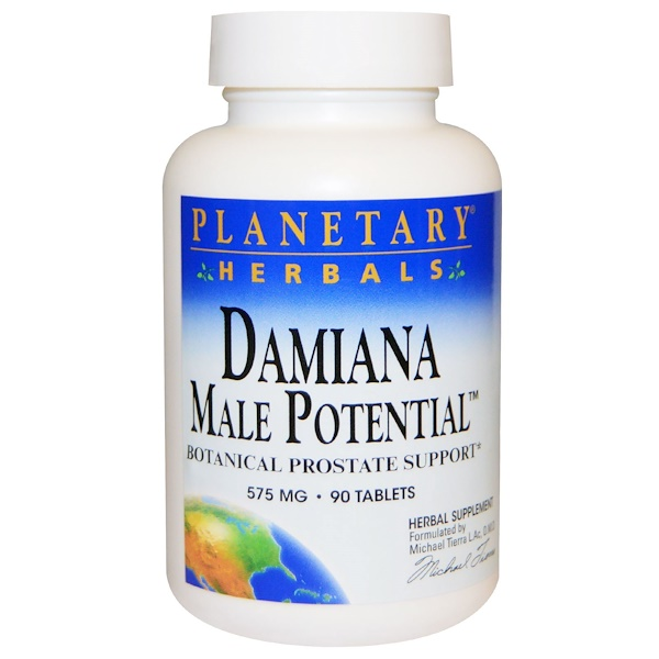 Planetary Herbals, Damiana Male Potential, Botanical Prostate Support, 575 mg, 90 Tablets (Discontinued Item)