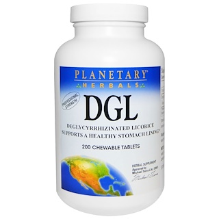Planetary Herbals, DGL,解甘草甜素,200 粒咀嚼片