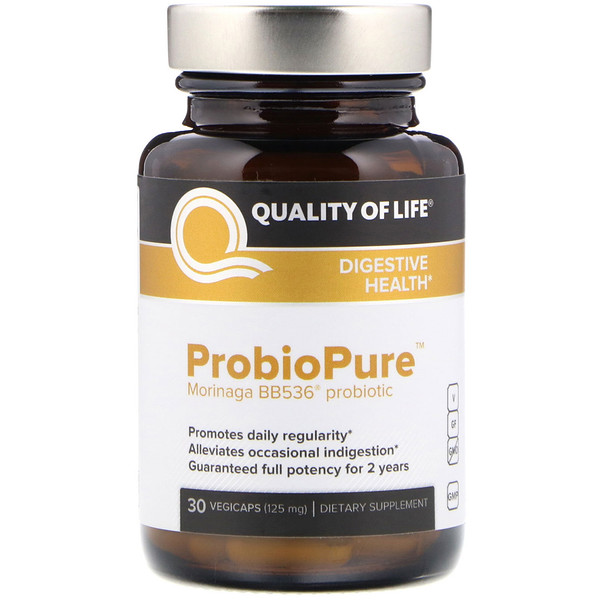 Quality of Life Labs, ProbioPure 素食胶囊,125毫克,30粒