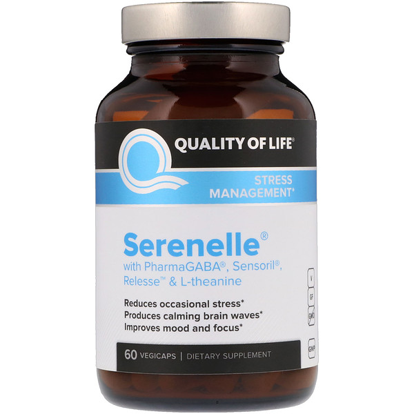 Quality of Life Labs, Serenelle压力缓解胶囊,60粒