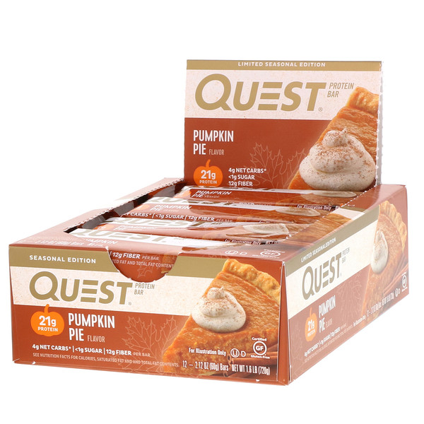 Quest Nutrition, 蛋白棒,南瓜饼味,12条,每条2.12盎司(60克) (Discontinued Item)