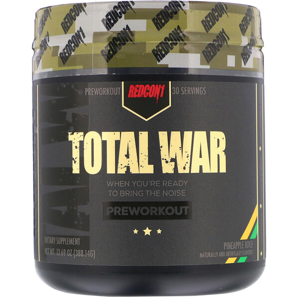 Redcon1, Total War, Preworkout, Pineapple Juice, 13.69 oz (388.14 g) (Discontinued Item)