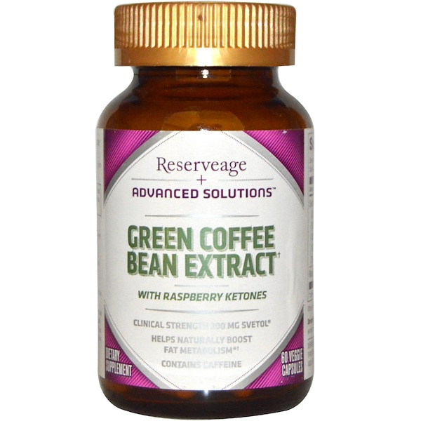 ReserveAge Nutrition, Advanced Solutions, Green Coffee Bean Extract, 60 Veggie Caps (Discontinued Item)