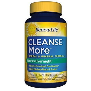 Renew Life, CleanseMore,100 粒素食胶囊