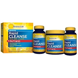 Renew Life, Advanced, Rapid Cleanse, 7-Day Program, 3-Part Program