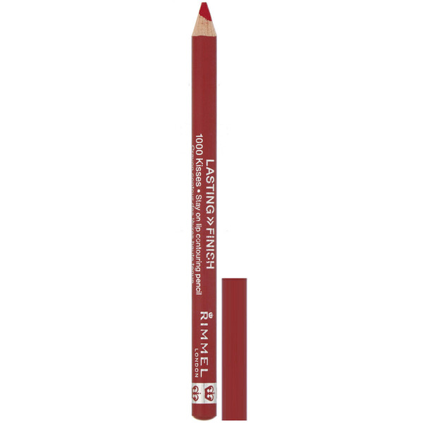 Rimmel London, Lasting Finish 1000 Kisses Stay On Lip contouring Pencil, 021 Red Dynamite, .04 oz (1.2 g)