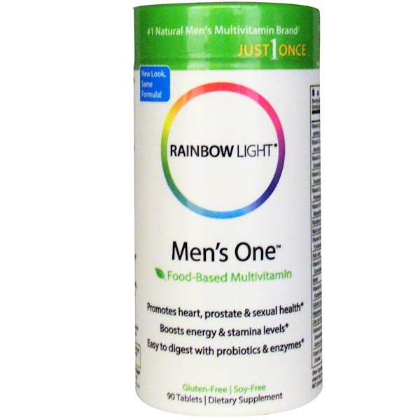 Rainbow Light, Just Once,Men's One,成分来自食物,多种维生素,90片