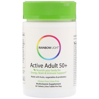 Rainbow Light, Active Adult 50+,30片