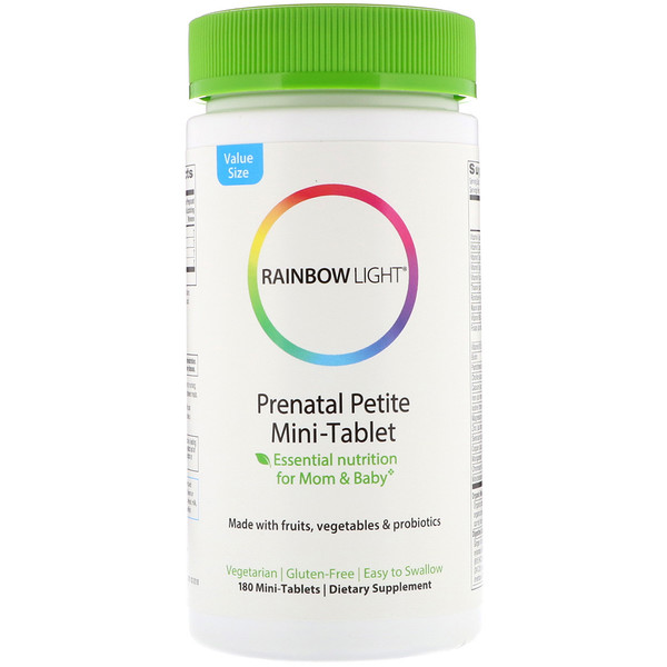Rainbow Light, Prenatal Petite Mini-Tablet, 180 Mini-Tablets