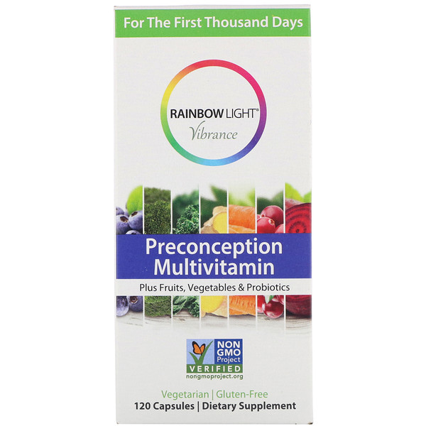 Rainbow Light, Vibrance, Preconception Multivitamin, 120 Capsules